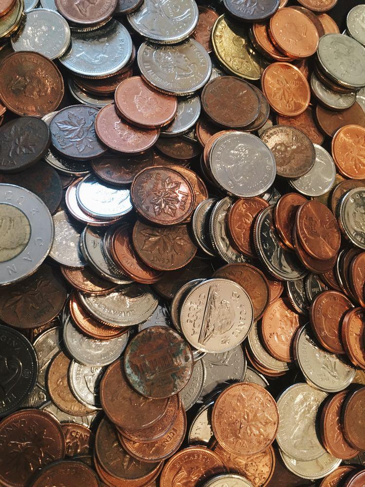 Penger i form av mynter